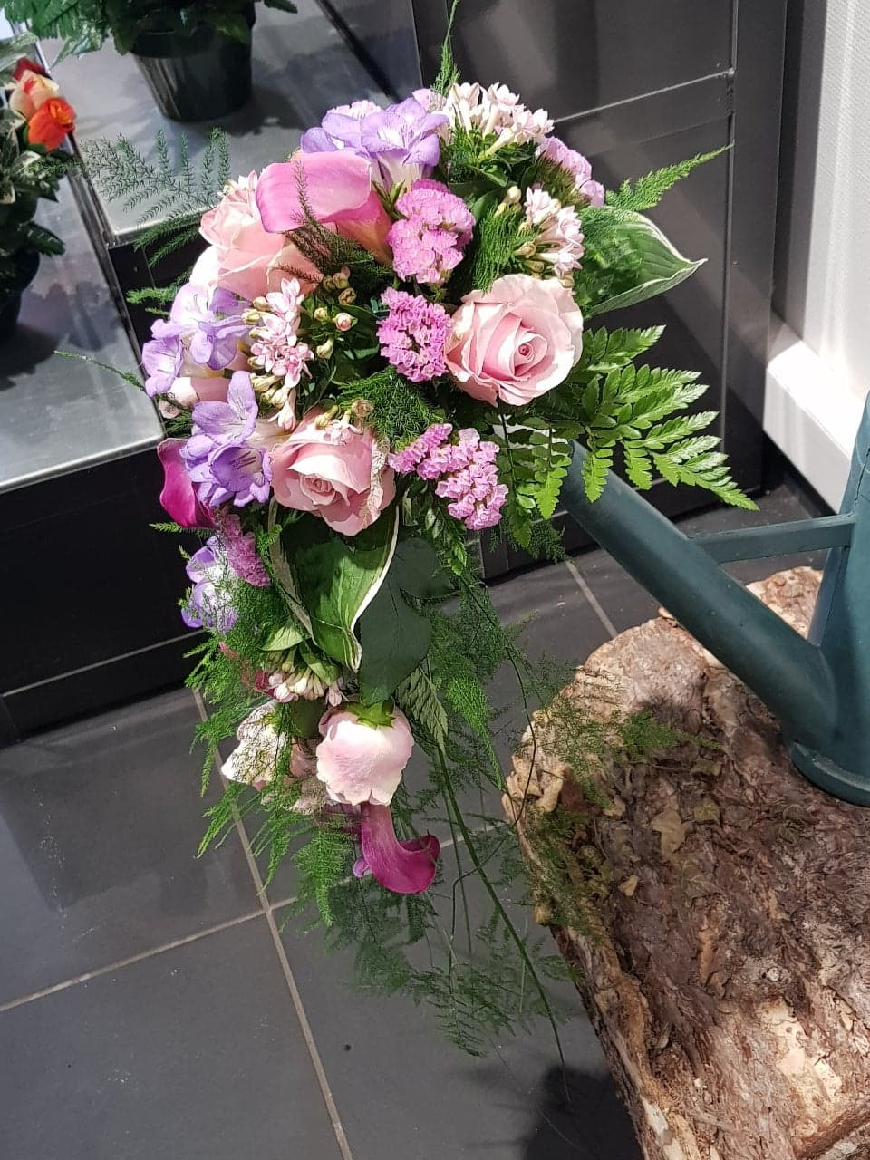 Bouquet en cascade de mariée