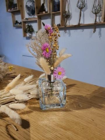 Composition de fleurs séchées